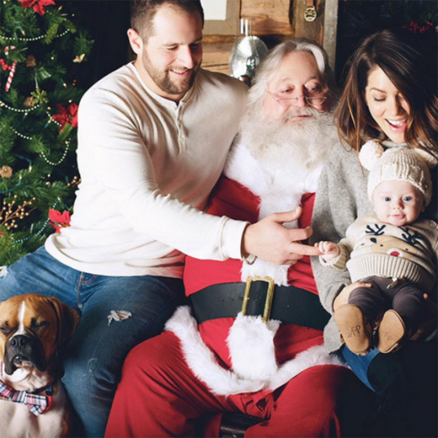 Little leo was all smiles when mom Jillian Harris and dad Justin Pasutto visited Santa in 2016. Even the Canadian <em>Love It or List It Vancouver</em> star's pooch, Nacho Cilantro, got in on the action! 