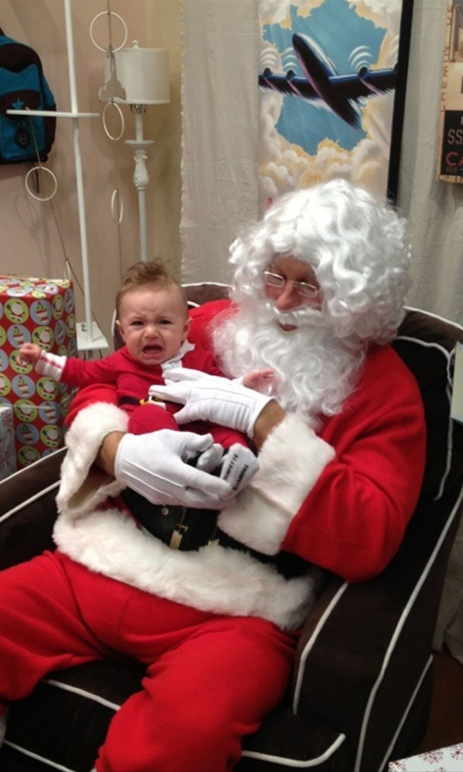 Kristin Cavallari's son Camden wasn't so sure about Father Christmas back in 2012!