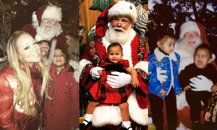 Celebrities can't resist a photo op with Santa any more than the rest of us, and the results have made for some serious Kodak moments! From John Legend and Chrissy Teigen's little crier to Mariah Carey's Aspen wonderland, click through to see the best photos...