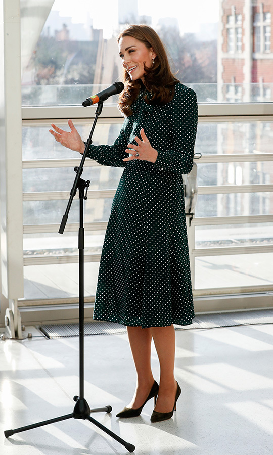As new patron of the hospital, Duchess Kate addressed the staff and patients.