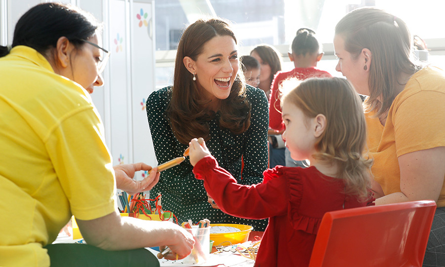 The duke and duchess took part in fun Christmas-themed activities with children at the hospital and their parents. 