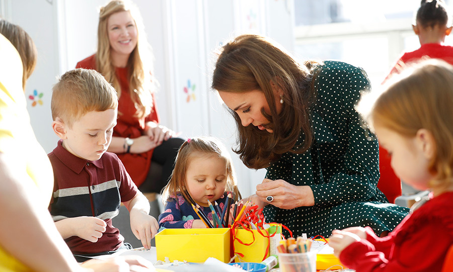 Artistic Kate definitely had a lot to teach the kiddies about arts and crafts!
