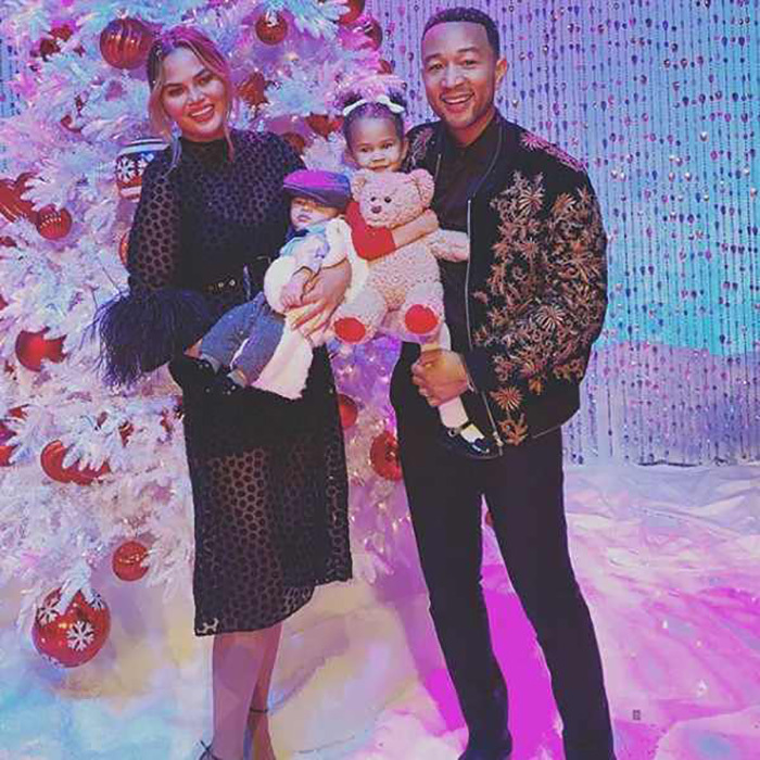 "Chrissy Teigen and John Legend got into some festive fun with their littles, Luna and Miles. The cookbook author captioned the snap: ""that's a wrap on our @NBC Christmas special!!! holy holy I can't wait for you guys to see this - thank you to all of our special guests - our friends, our family, the endless work from team legend - we love you guys. I think the word is blessed?? We are blessed.""