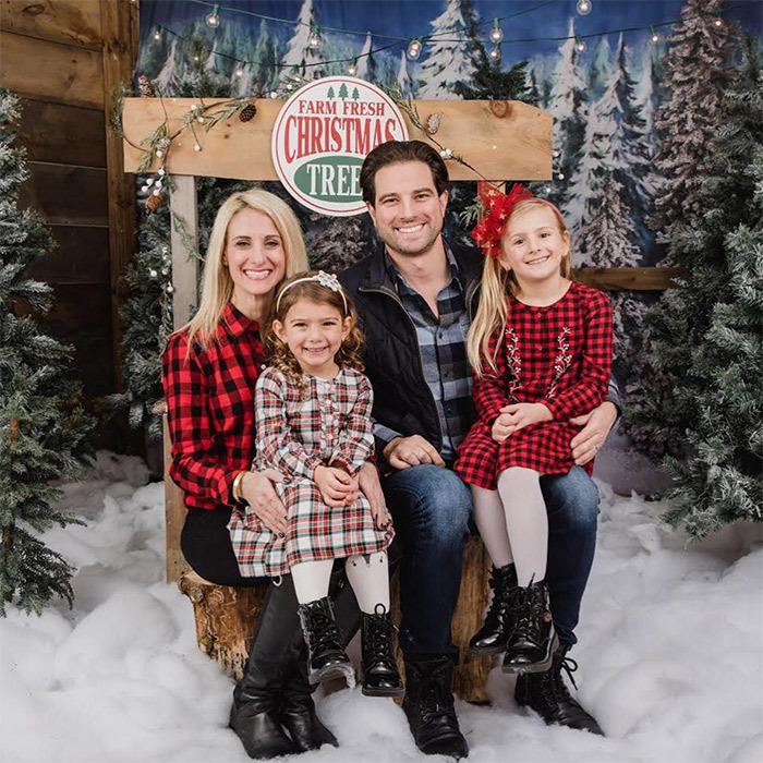 "HGTV's Scott McGillivray posed for Christmas photos with his wife, Sabrina, and their two daughters, Layla and Myah. He captioned the snap: ""'Tis the season Nothing like the holidays to show you just how much your kids have grown over the last year, right?""