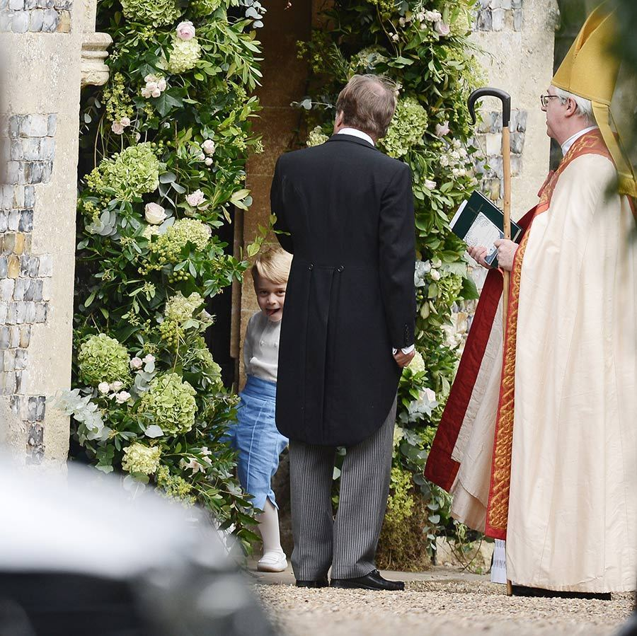 As a page boy for mom Kate's close friend Sophie Carter in Norfolk this past September, Prince George gave the paparazzi a sassy look while entering the church. 
