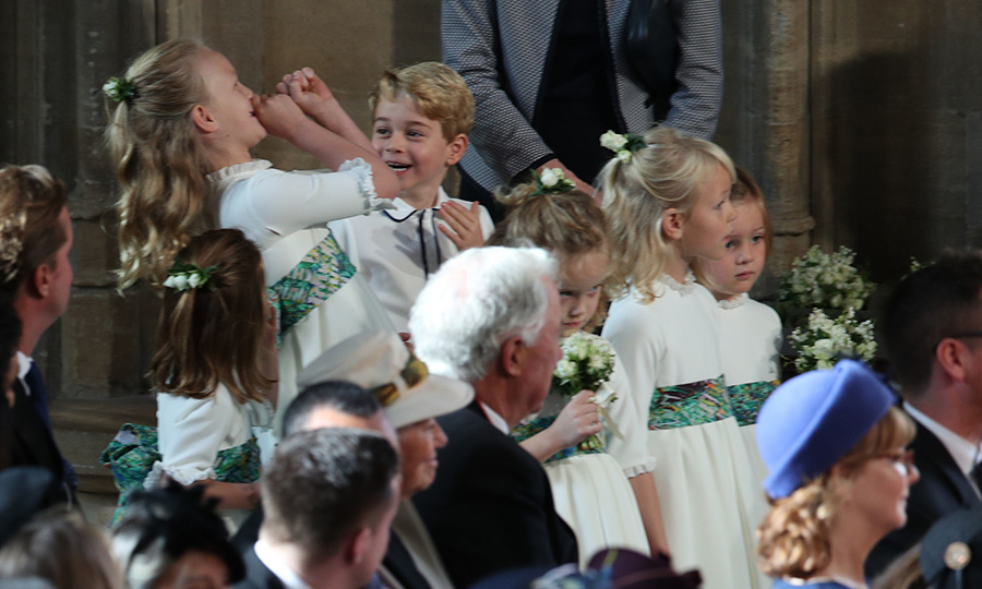 Savannah definitely kept Prince George entertained on the aisle at Princess Eugenie's wedding!