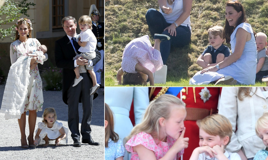 Royal kids often have a life of responsibility and service ahead of them, but before they grow up they get away with their fair share of cheeky moments - much to the delight of royal watchers! From Princess Leonore's barefoot christening antics to Princess Charlotte's paparazzi sass and Savannah and Prince George's Trooping the Colour hijinks, Europe's royal kiddies did not disappoint when it came to giving us the giggles.
