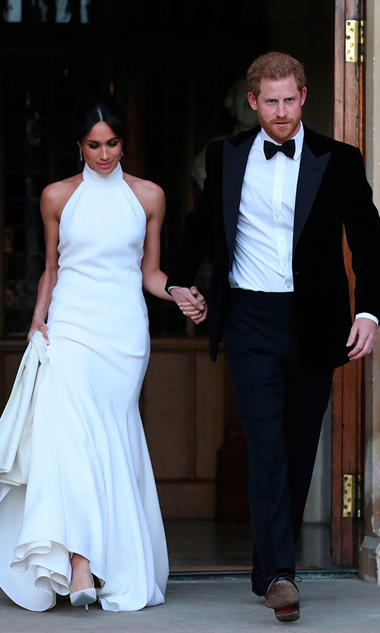 Prince Harry and Meghan headed to their second wedding reception at Frogmore House.