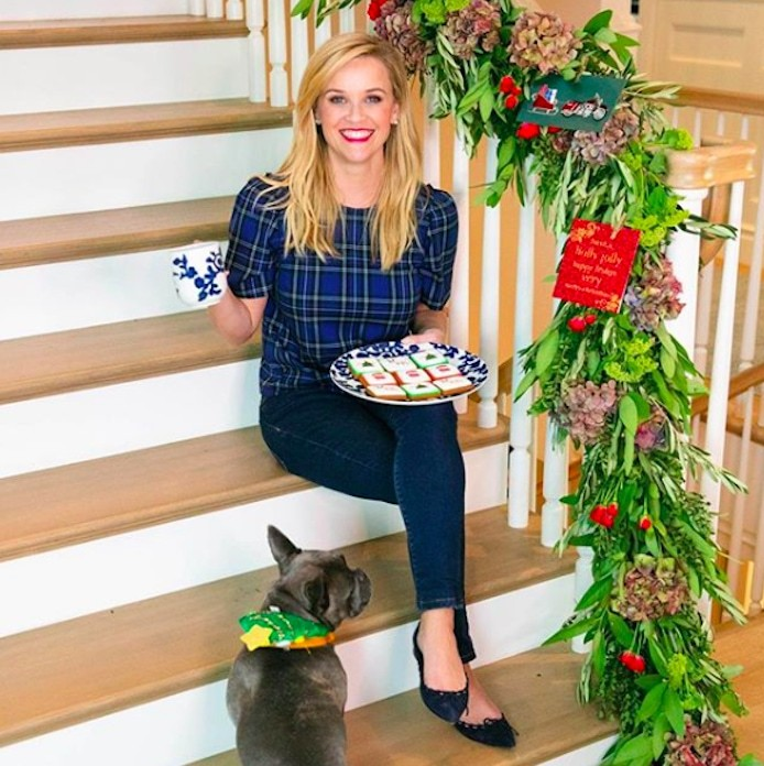 The beautiful Reese Witherspoon rang in the holidays with her clothing label, Draper James! 