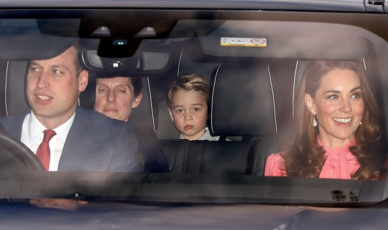 "The Cambridge clan were one of the first to arrive! Joining <a href=""/tags/0/prince-william-and-kate/"">Prince William and Kate</a> was <a href=""/tags/0/prince-george/"">Prince George</a>, 5, and three-year-old <a href=""/tags/0/princess-charlotte/"">Princess Charlotte</a>, who was hidden behind dad's seat. Nestled in between the children was their Spanish nanny, Maria Teresa Turrion Borrallo.