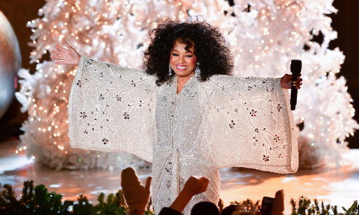 Diana Ross performed at the 86th Annual Rockefeller Center Christmas Tree Lighting in November. She stunned in an elaborate white gown, that made her look truly angelic.
