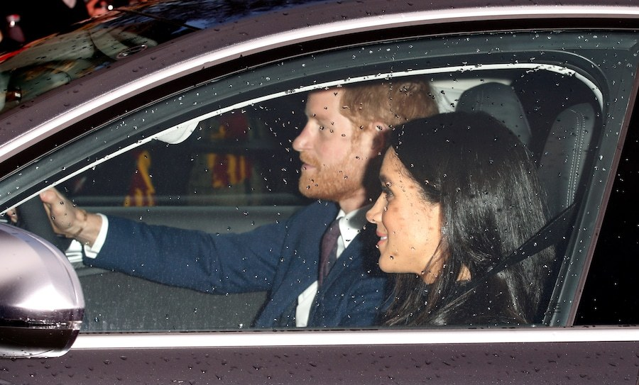 The Duke and Duchess of Sussex arrived at Buckingham Palace for the Queen's pre-Christmas lunch.