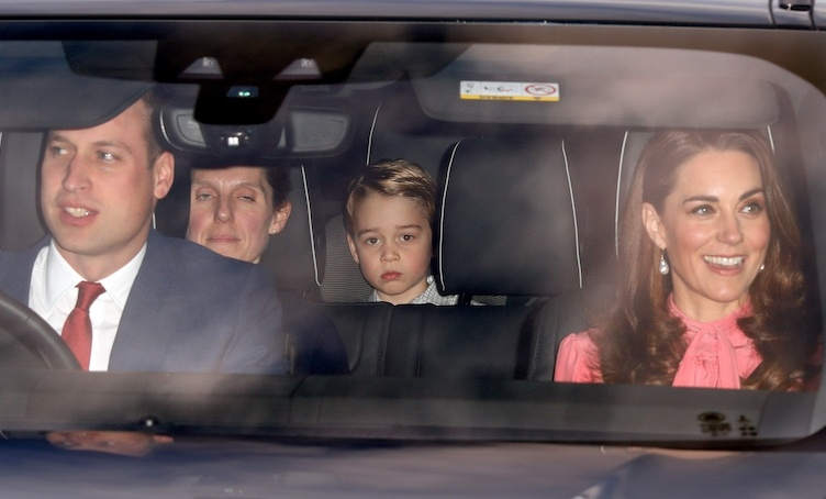The Cambridges were all smiles while arriving for the lunch, too! A little Prince George and Princess Charlotte (not pictured) sat in the back with their nanny, Maria.