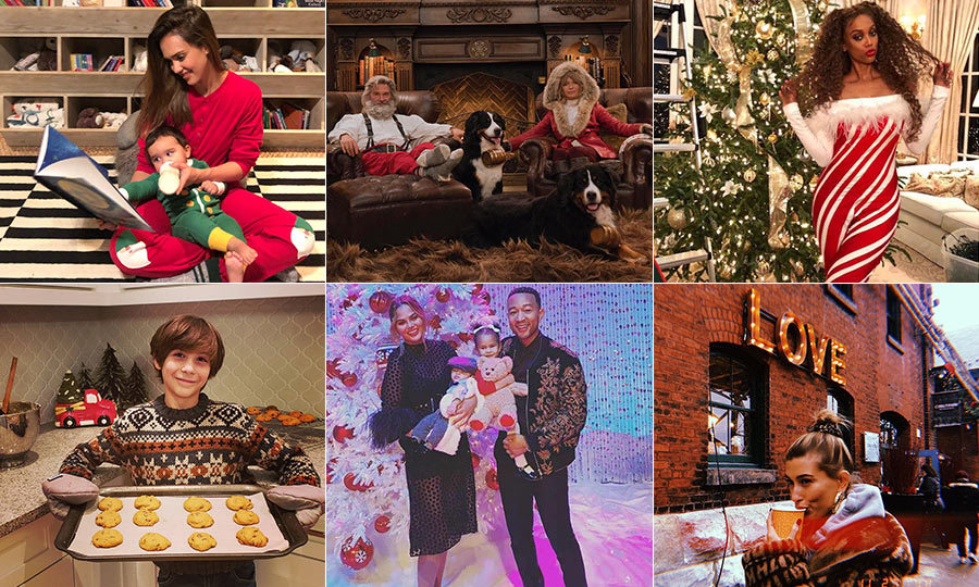 It's the most wonderful time of the year – Christmas trees, hot cocoa, wish lists for Santa Clause and festive onesies galore! Celebrities are not immune to the holiday spirit and have taken to Instagram to show off just how much they love the festive season. From Jennifer Lopez and Alex Rodriguez's massive tree to Jessica Alba's matching onesies, see how your favourite stars are ringing in the holidays!