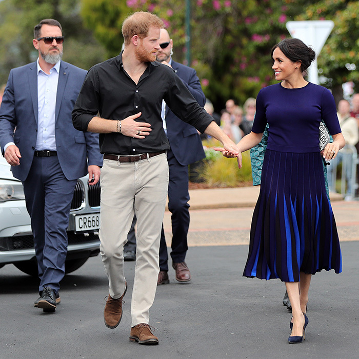 They're never too far apart from each other, and that was definitely the case as they stopped by Rotorura Government Gardens on Oct. 31.