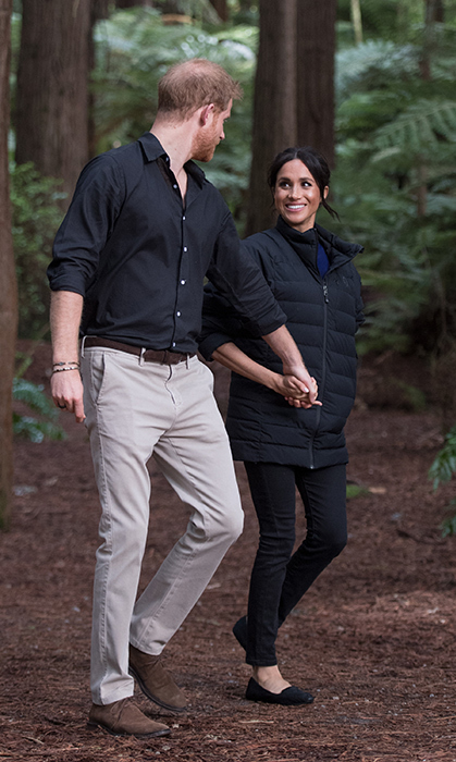 A love for nature is one thing these lovebirds have in common! They took a walk through the redwoods while on a royal tour stop in New Zealand.