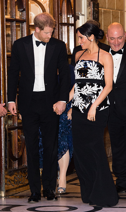 While arriving at the Royal Variety Performance, looking every inch the chic couple, Prince Harry and Meghan lovingly held hands.
