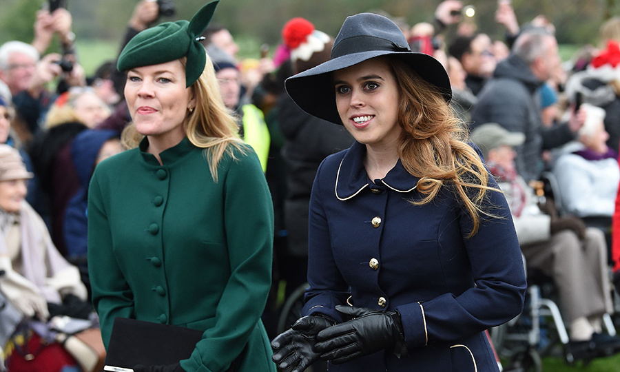 Canadian Autumn Phillips looked gorgeous in a hunter-green ensemble with a matching hat, while princess Beatrice opted for a wide-brimmed hat and a chic navy coat by one of her go-to designers, Claire Mischevani. 