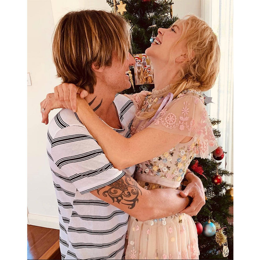 "Swoon! ""Wishing you love, laughter and joy ❤️"" Nicole Kidman said alongside this stunning photo of the actress and hubby Keith Urban. 