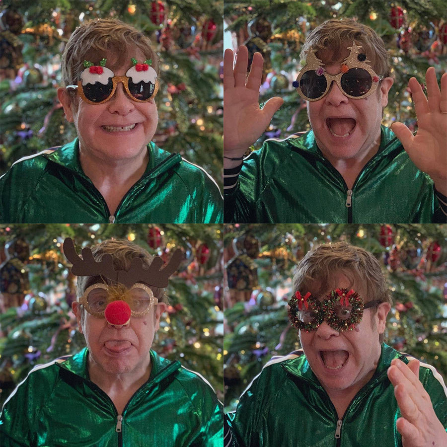 "Elton John asked followers to vote on their fave pair of shades! ""Thank-you to all of my wonderful fans for their loyalty and support over the past year. This has been the best year ever and I am so grateful for all the love and kindness you give me. Thank-you! Love, Elton xx 