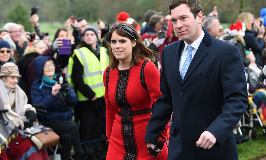 Newlyweds Princess Eugenie and Jack Brooksbank sweetly held hands as they made their way into St Mary Magdalene church on Christmas Day with their royal family in 2018.