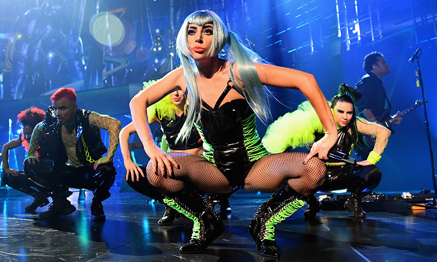 "Mother Monster hits the stage! <a href=""/tags/0/lady-gaga/"">Lady Gaga</a> kicked off her Las Vegas residency at the Park MGM resort on Dec. 28, taking to the stage to rock some of her biggest hits with a giant robot in her ENIGMA show - one of two distinct shows that the Golden Globe nominee will be rotating on the Sin City stage. Stars like Katy Perry and Orlando Bloom, Regina King and Adam Lambert were in the audience on opening night. 