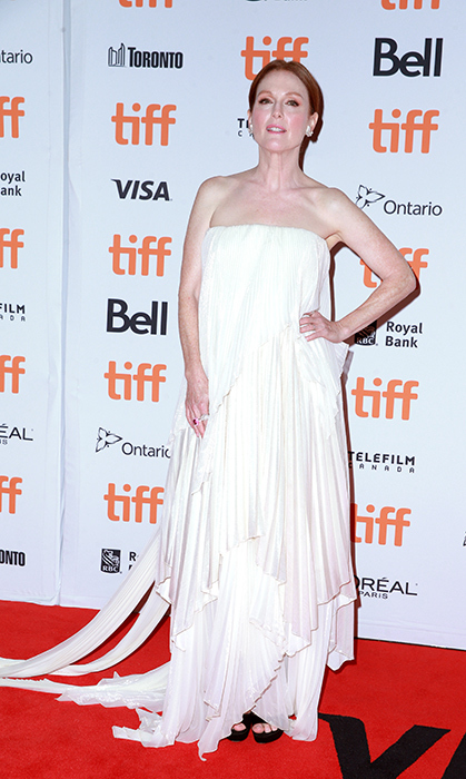 "<a href=""/tags/0/julianne-moore/"">Julianne Moore</a>, 58, was the picture of ethereal at the Toronto International Film Festival premiere of her film <em>Gloria Bell</em>. The actress dazzled in a strapless draped Givenchy gown.