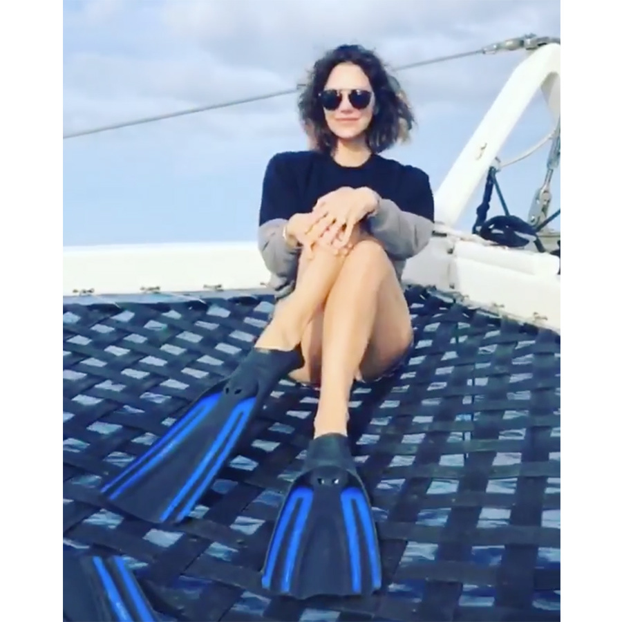 """I'm coming for you Ariel,"" Katharine said alongside a sweet video of the singer flipping her fins on a snorkelling trip. 