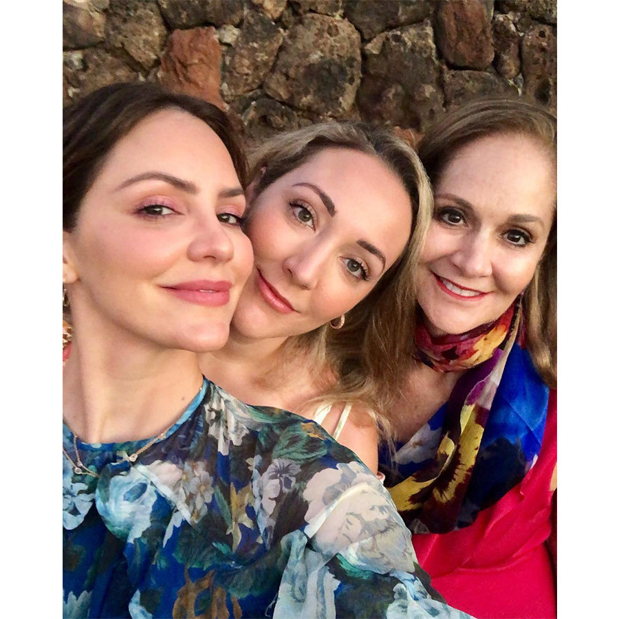 """Heaven in Lanai with my girls !"" Peisha captioned a photo of the trio. Katharine's sister Adriana and mom are both voice coaches who own McPhee Int. Vocal Studios, and Peisha also acts as a coach for Disney and <em>American Idol</em>. 