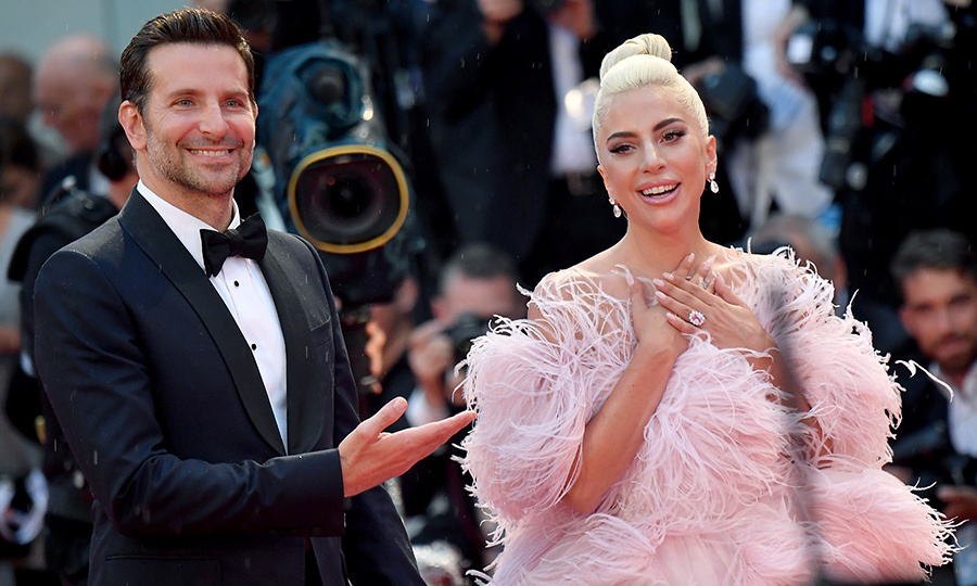 The duo looked fabulous on the Venice Film Festival red carpet, but fans were floored by Lady Gaga's feathered Valentino design. As always, the talented actor gave credit to his wonderful co-star and on-screen love interest, who made her jaw-dropping big screen debut in his first directing project.