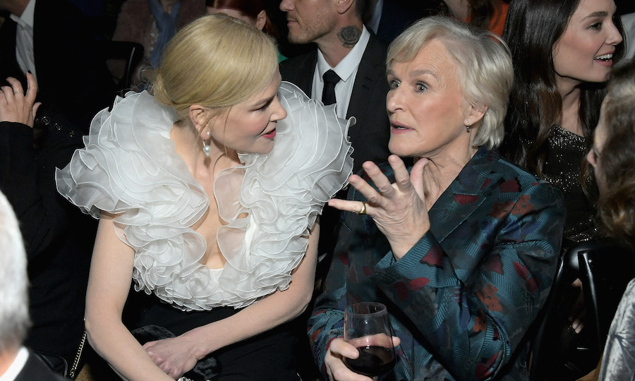 When legends collide, enlightening conversations are sure to be had. Nicole and an immaculately suited Glenn Close enjoyed an enthusiastic chat at the awards evening.
