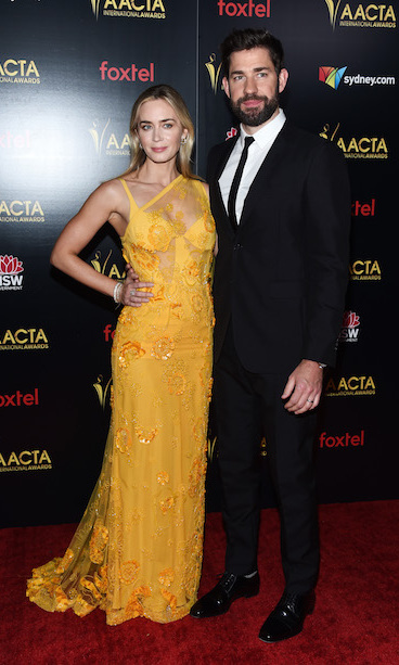 Parents of two Emily and John made the most dapper duo for the awards evening leading up to the 2019 Golden Globes. The blond bombshell looked dazzling in a mustard yellow Elie Saab gown, sided by her dapper husband in a simple black suit.