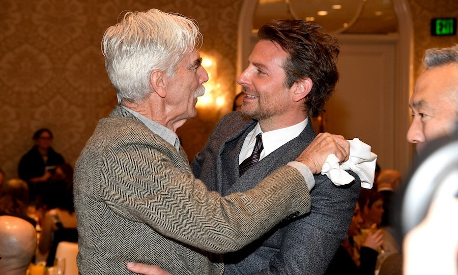 Co-star hugs are the best hugs! On-screen siblings in <em>A Star is Born</em>, Sam Elliott and Bradley Cooper showed off some brotherly love at the AFI Awards on Jan. 4.