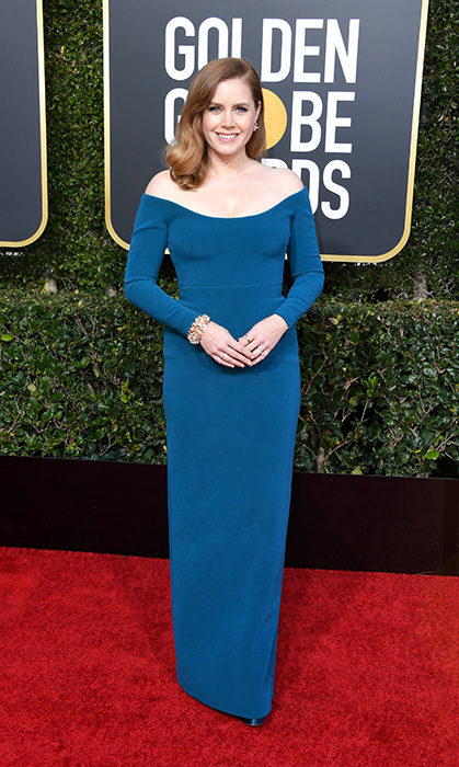Amy Adams in custom Calvin Klein