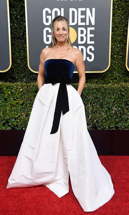 Kaley Cuoco in Monique Lhulier