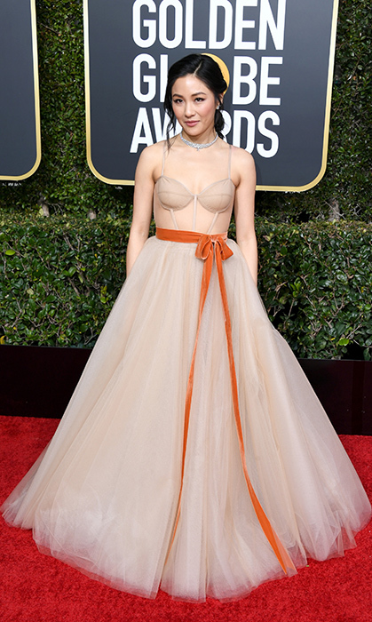 Constance Wu in Vera Wang