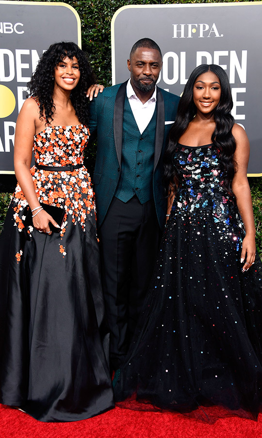 Sabrina Dhowre, Idris Elba and Isan Elba