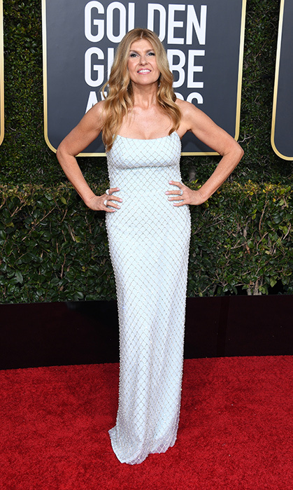 Connie Britton in Christian Siriano