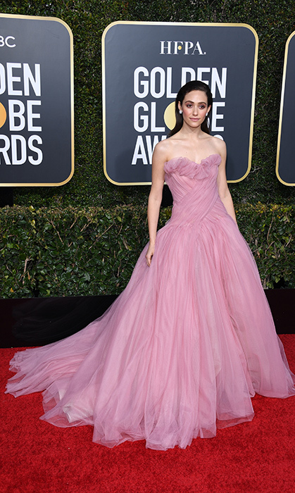 Emmy Rossum in Monique Lhiulier