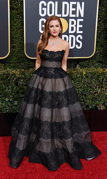 Isla Fisher in Monique Lhuillier