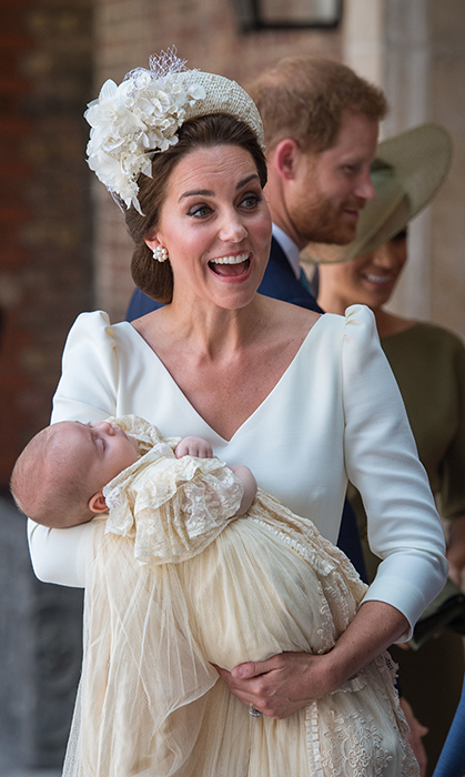 This was the headband that started it all! Ever since the Duchess of Cambridge stepped out in this stunningly intricate Jane Taylor headpiece for Prince Louis' christening in July 2018, many royals have taken up the trend – and we love it. She paired the floral and lace design with a cream dress by her go-to fashion house, Alexander McQueen.