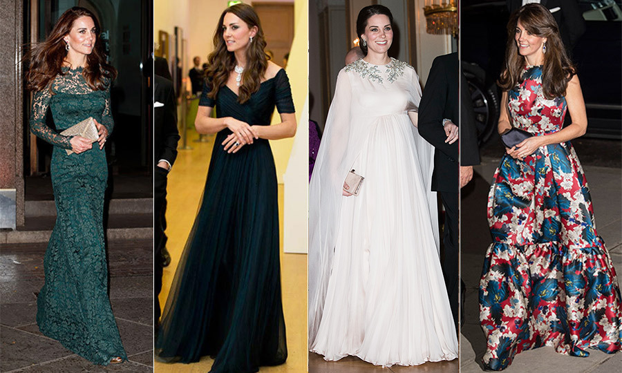 Kate Middletons Best Evening Gowns Hello Canada Hello Canada