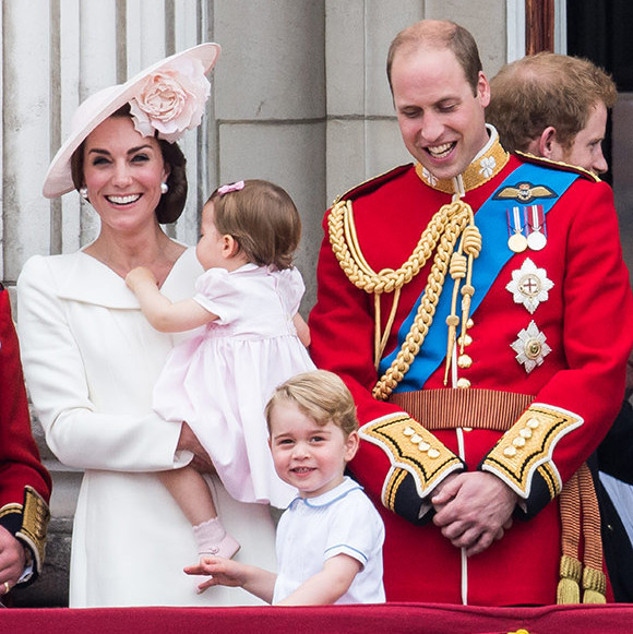 Prince George looked delighted as he waved to the crowds while on the balcony at the Trooping the Colour ceremony. 