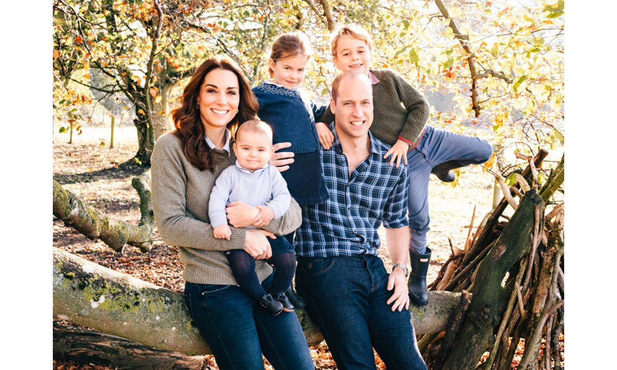 On Dec. 14, 2018 the Cambridge family released a perfectly casual photo for their Christmas card! Prince Louis totally stole the show in this one, showing off his adorable little grin for the camera.