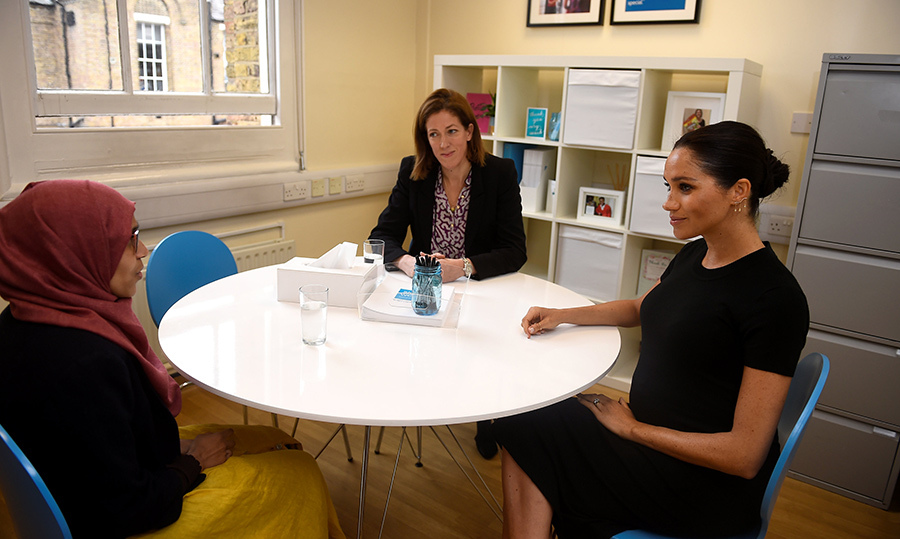 Meghan spent some time chatting with beneficiaries of the program, learning about their stories.