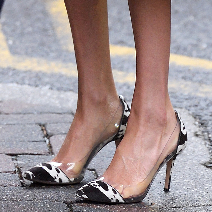 Fans went wild for the royal's cow-print Gianvitto Rossi pumps.
