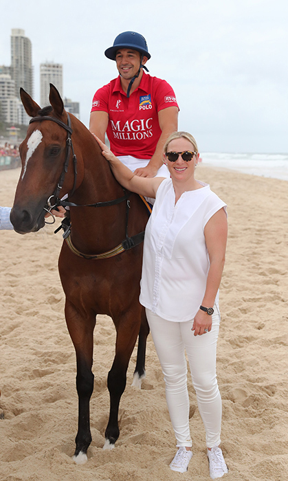 Zara Tindall looked perfectly casual on the beach while attending the 2019 Magic Millions official draw event on Jan. 8. She looked wonderful in an all-white ensemble – crisp shoes, slim-fit white denim and a sleeveless blouse. Paired with a chic set of sunnies, the royal posed alongside Billy Slater and his mount.