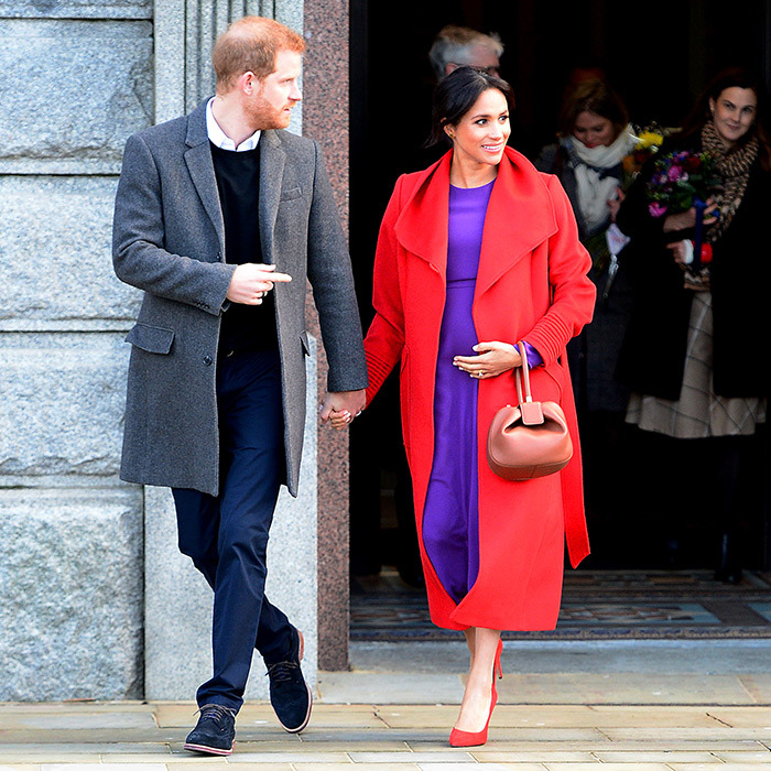 As the couple left, they lovingly held hands – a very Harry and Meghan move!