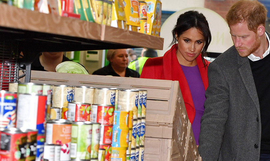 Prince Harry and Meghan perused the aisles of the new supermarket. They were in town to help officially open 'Number 7', a 'Feeding Birkenhead' citizen's supermarket and community café.