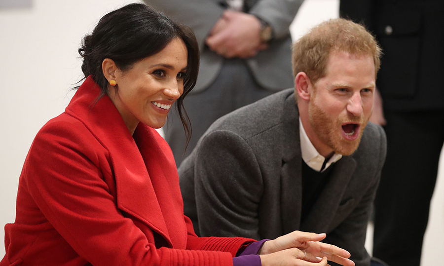 Prince Harry seemed quite animated while watching the dance group!